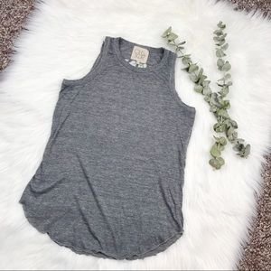 Chaser Gray Knit Muscle Tank Top Size Small